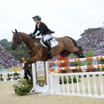 Zara Phillips jumping