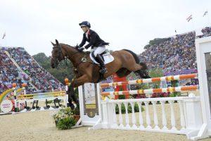 Zara Phillips jumping