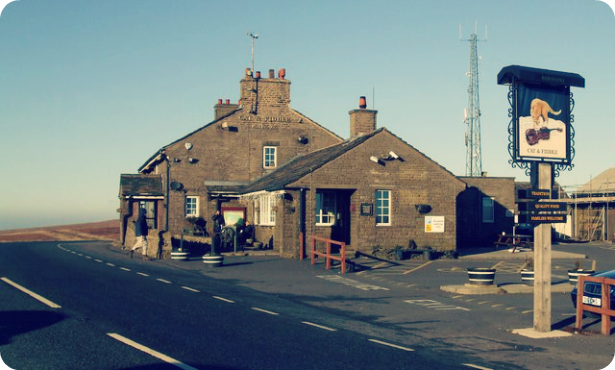 Best British pubs: the Cat & Fiddle Inn, Cheshire
